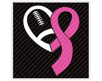 Football, Awareness, Breast Cancer, Hope For A Cure, Pink Ribbon, Digital, Download, TShirt, Cut File, SVG, Iron on, Transfer