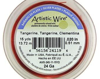 Artistic Wire SP Tangerine Color 24ga - 15 Yard Spool  (WR36124) **CLOSEOUT**