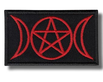 Triple goddess  - embroidered patch 8x5 cm