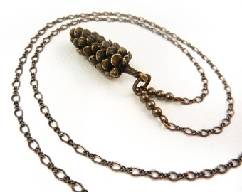 Pine Cone Necklace, Large Pine Cone, Pine Cone Pendant, Pinecone, Christmas Necklace, Long Layering Necklace, Long Chain