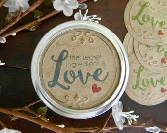 Mason Jar Lid Covers, Jar Labels, Jar Stickers,Canning Jar Lid Inserts, Holiday Jar Food Gifts, Canning Jar Tags, Christmas Gifts