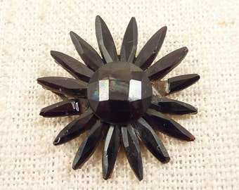 Antique Jet Mourning Jewelry Element