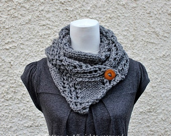 Knitting PATTERNS for women, scarf pattern - Listing136