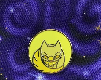 Full Moon Kitten Enamel Pin