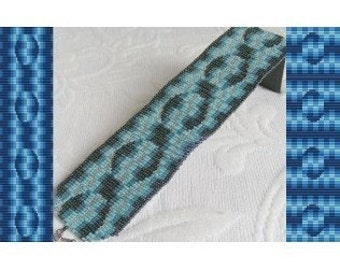 2 Loom Patterns - Electric Blue Bracelet - 2 Variations For The Price Of 1
