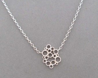 sterling silver bubble pendant