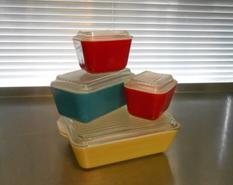 Pyrex Primary Fridgies-the chippy set