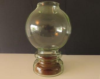 Leerdam lantern with wooden candlestick