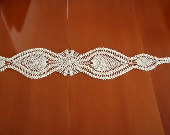 Cream Table Runner Table cloth Crochet Table Runner Cotton