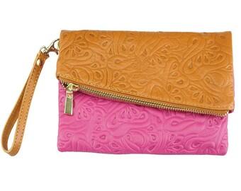 clutch bag / A soft folded clutch purse