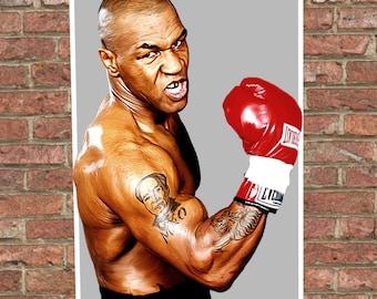 Mike Tyson - Digital Painting - Digital Illustration - Mike Tyson Poster - A3 - A2 - Boxing Art - Tyson - Painting - Poster Art - Boxing