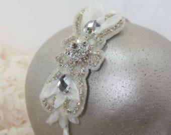 Bridal headband, bridal hair piece, wedding hairpiece, bridal hairpiece, wedding hairpiece