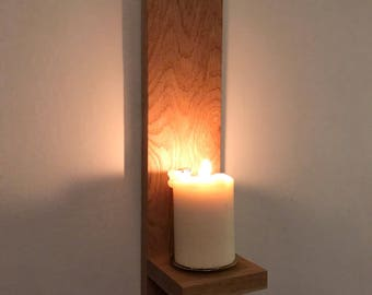 Wall mounted alter candle holder, Memory Candle