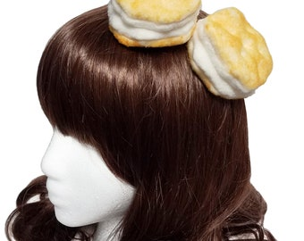 Golden Buttered Biscuits Hair Clips ~ Made to Order