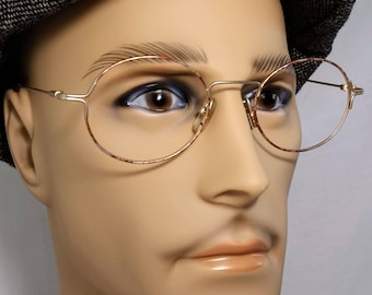 Vintage Eyeglass Frame, Lux de Paris, Orange Gold