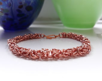 Rose Gold Chain Maille Bracelet