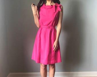 Vintage 60s Pink Shift Dress