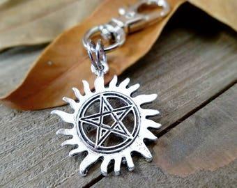 Anti possession charm - supernatural clip - notebook charm - supernatural - anti possession pentacle - supernatural charms - back pack charm