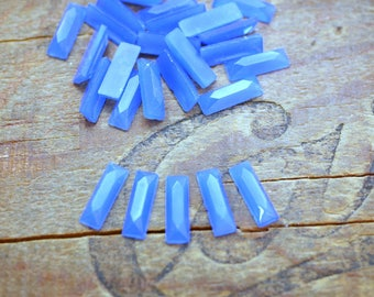 Vintage Rhinestone Art Deco 12x4mm Royal Blue Glass Rhinestone (10)