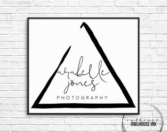 Premade Logo Design / Triangle Logo / Minimalist Logo/ Photographer Logo / Photography Logo / Business Logo / Watermark/ 127