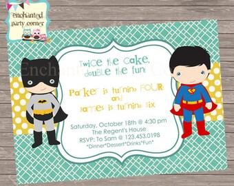 Batman and Superman Invite
