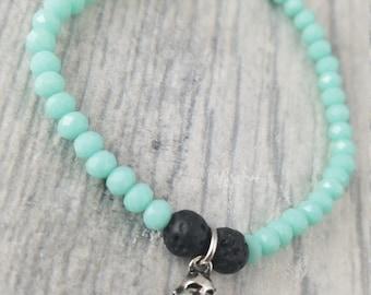 Essential Oil Diffuser Bracelet l Diffuser l Buddha Bracelet l Lava Rock l Aromatherapy l Spiritual l  Handmade