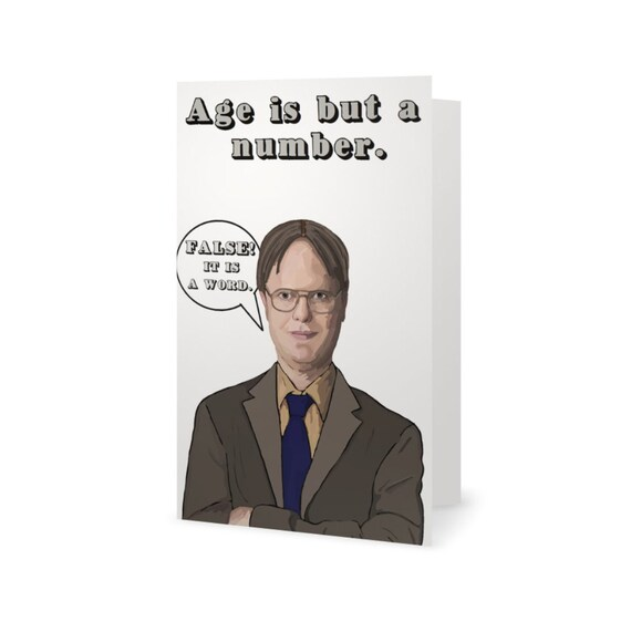 The office birthday card dwight schrute michael scott jim the office birthday card dwight schrute michael scott jim halpert funny birthday card humor card 100 recycled paper bookmarktalkfo Images