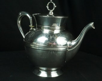 Webster and Brother teapot in Quad Plated Silver from 1865-1867: silverplate, teapot, webster, antique, vintage