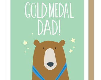 GOLD MEDAL DAD - Father's Day Card