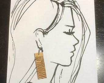 Zebra print earrings, laser cut earrings, animal print, earrings