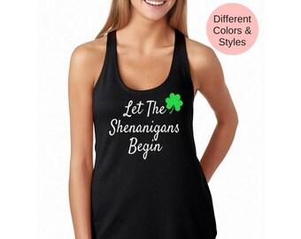 St patricks day womens shirt, st pattys day, st patricks day shirt women, shamrock shirt, st patricks day tank, shamrock tank top, four leaf