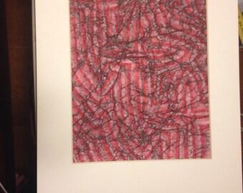 """Batik matted art 11""""x 14"""" mat ~ Original art ~ christian art ~ boho art ~ batik art ~ batik wall art ~ christian gift ~ christian art ~"""