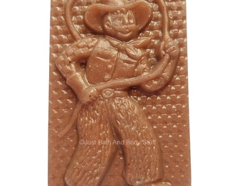 Cowboy Soap, Novelty Soap, Western Decor, Cowboy Shaped Soap,  Wild West, Soap for Men, Made by Just Bath And Body Stuff / JBABS
