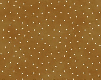 Scattered Dots - Gingerbread by Maywood Studio (8119-T) Cotton Fabric Yardage