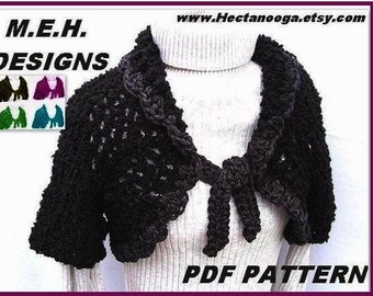 CROCHET PATTERN Shrug - Light and Lofty Shrug, make it small, medium large, or custom size. num. 23  women or girls