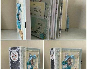 Baby boy baby keepsake album/photo album