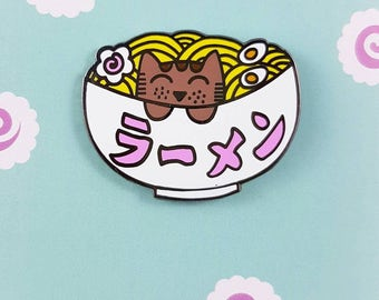 SALE - Ramen Kitty - Hard enamel Pin