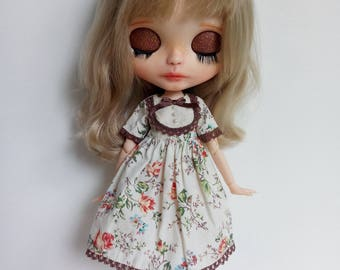 The Secret Garden Serie Orange Roses dress for pullip factory blythe azone momoko obitsu and similar dolls