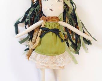 Heirloom Doll // Cloth Doll // Fabric Doll // Forest Fairy