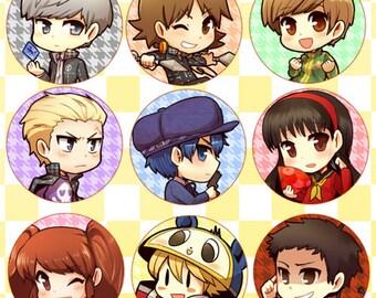 Persona 4 Button Set (3)
