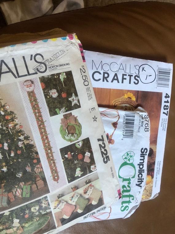 Craft Patterns - vintage holiday patterns - sewing pattern - autumn ...