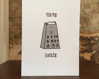 You're Grate Thank You Card