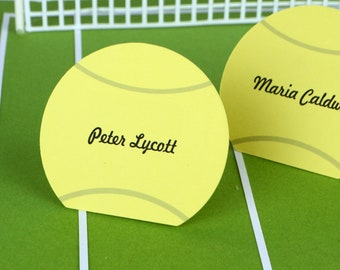 Autographed Tennis Ball Place Cards Set of 24