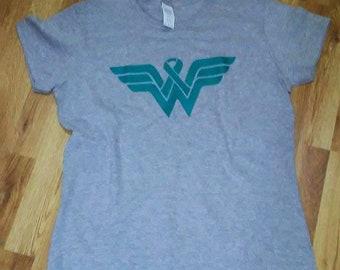 Wonder Woman Awareness ribbon  T shirt
