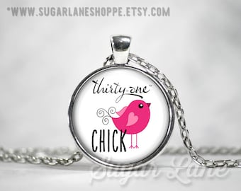 Thirty-One Chick Necklace - Glass Dome Necklace - 31 - Thirty One Jewelry - Thirty One Pendant