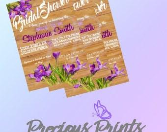 Customized Printable Bridal Shower Invitation