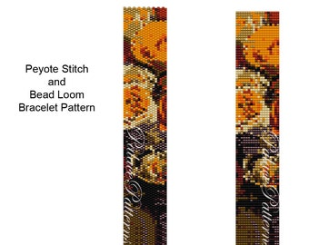 Bead Weaving Pattern - Thin7 - Peyote Stitch or Bead Loom Bracelet Pattern