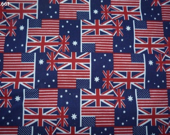 Fabric flags C661 American/English/Australian 34x49cm coupon