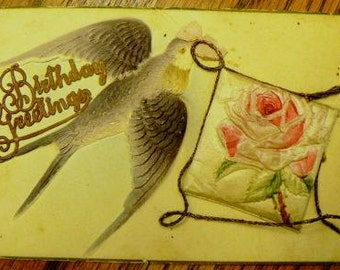 vintage postcards ... BIRTHDAY GREETING POSTCARD stunning 3D ...