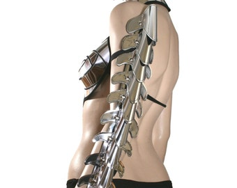 futuristic vertebrae , spinebone armor spartan shoulder armour custom made for men or women